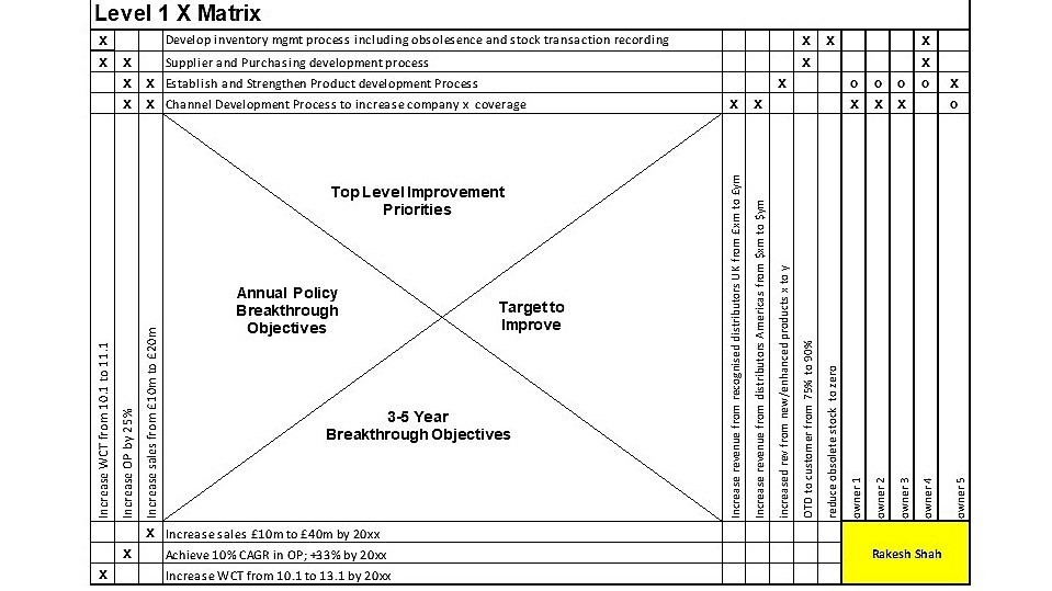 Hoshin (X matrix /A3 matrix)